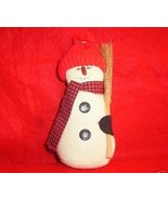 Country Muslin Snowman with Straw Broom - $5.00