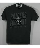 NFL Team Apparel- Men's Large Raider Nation T-Shirt, Charcoal Gray (D2) - $16.83