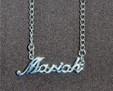 Sterling Silver Name Necklace - Name Plate - MARIAH