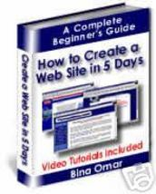 Create Your Own Website in 5 Days Ebook - $1.99