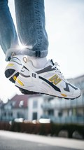 NEW IN BOX NEW BALANCE SNEAKER 878 DAD SHOES WHITE YELLOW sz 11 - $59.38