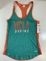 Under Armour Women's UCLA Bruins HeatGear Fitted Mesh Tank Top Teal Peac... - $19.79