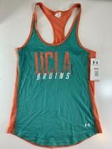 Under Armour Women's UCLA Bruins HeatGear Fitted Mesh Tank Top Teal Peac... - $19.79