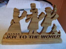 Wooden Joy to the world sign display - $25.00