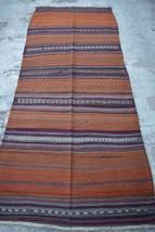 HR 3'5 x 8'6 Vintage Afghan Nomadic Sumak Kilim Tribal Turkish wool Anti... - $269.10