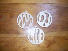 Wooden personalized christmas tree ornaments - $5.00