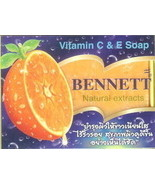 BENNETT NATURAL EXTRACTS VITAMIN E & C SOAP, HERBAL OIL - $1.99