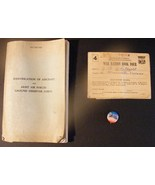WWII Collection, Ration Stamps, Convair XF-92 Pin, Aircraft ID Book - $60.00
