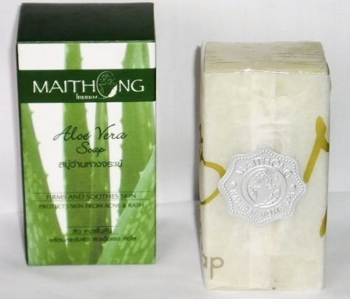 MAITHONG ALOE VERA HERBAL SOAP FOR ACNE, FIRMS SKINS