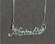 Sterling Silver Name Necklace - Name Plate - NATALIE