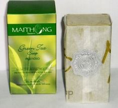 MAITHONG GREEN TEA SOAP SLOWS AGING, FOR  ACNE & RASH - $2.48