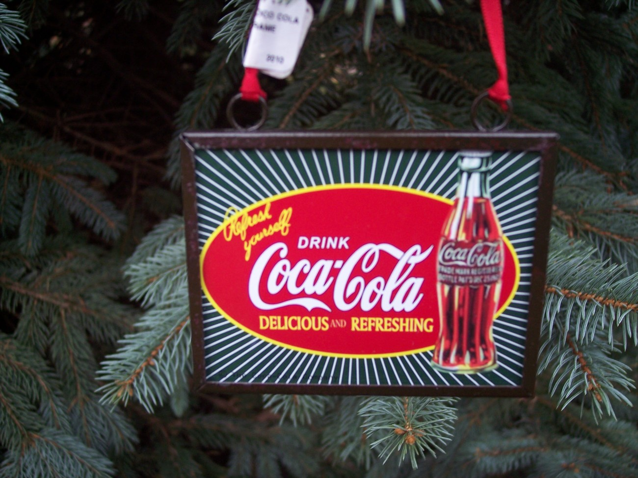 Primary image for Drink Coca Cola Frame Christmas Ornament