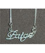 Sterling Silver Name Necklace - Name Plate - PAIGE - $54.00