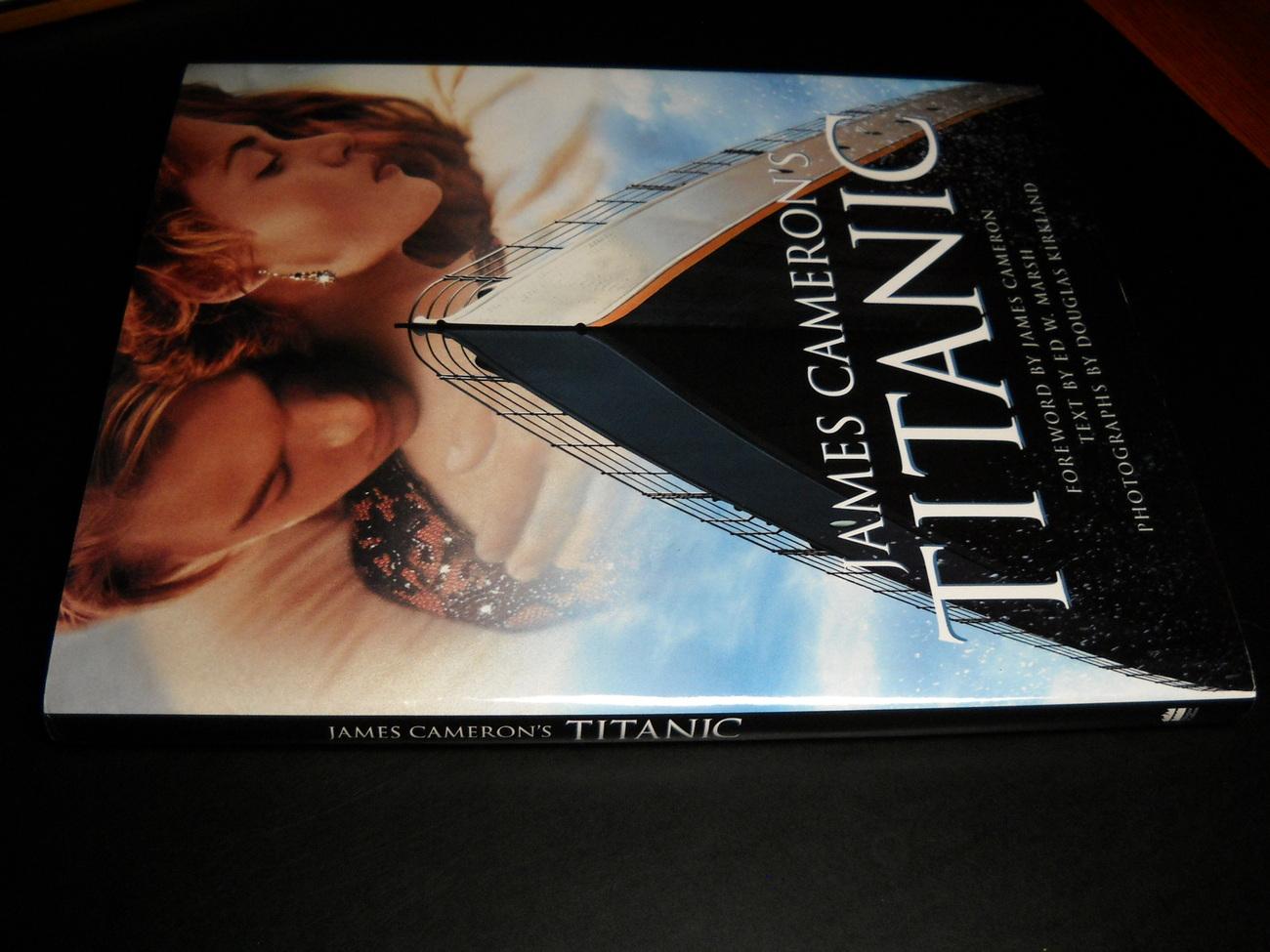 Book james cameron s titanic marsh kirkland harper collins 1997 hcdj 02