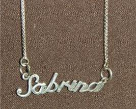 Sterling Silver Name Necklace - Name Plate - SABRINA - $54.00