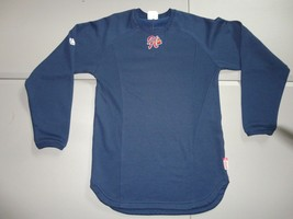 Blue Tomahawk Logo Minor League Braves MLB Embroidered Therma Base Jersey SZ XS - $28.70