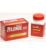 TYLENOL PARACETAMOL 500MG 100 CAPLETS - $1.30