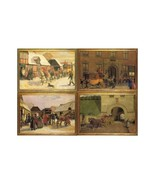 Postal Diligences. 4 Cards by Famous Danish 18th Century Painters, Serie... - $10.00
