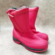 Lands End Boys394522 Sz 6 M Red Winter Snow Boots - $34.99