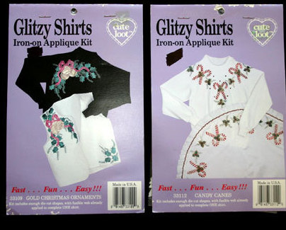 Craft Iron-on Applique Kit for Glitzy Christmas Shirts