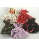 5 Vintage Ideal Mattel Clone Doll Dresses  - $34.12