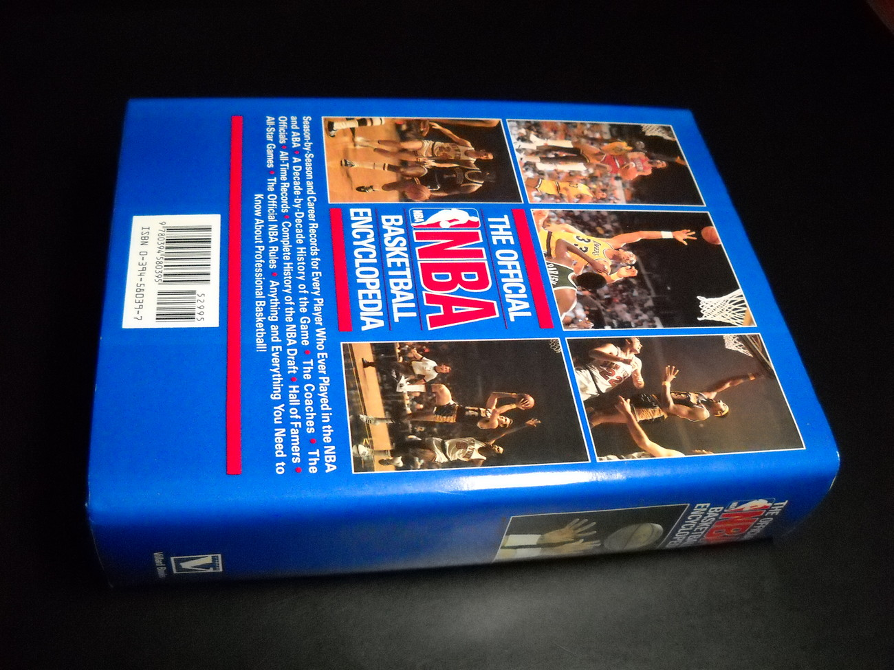The Official NBA Basketball Encyclopedia 1989 Complements of Cleveland Cavaliers