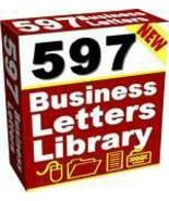 597 Ready To Use Sales Letters and Business Forms - $2.99