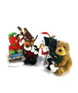 Lote 4 Navidad Afelpado Animados Musical Snoopy Elmo Oso Reno Ver Vídeo - $62.41