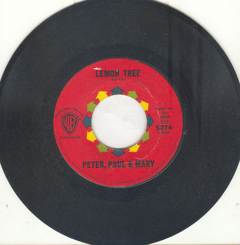 PETER, PAUL & MARY 45 rpm Lemon Tree