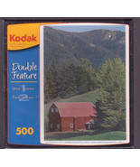 Kodak Red Barn Puzzle 500 3D Wilderness Farm Summer and Snow Scene in One - $15.00