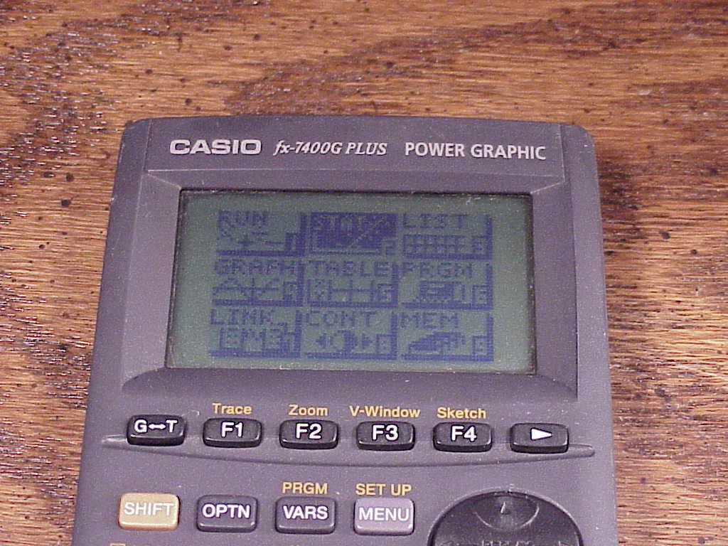 Casio FX-7400G Plus Power Graphic Calculator, with cover