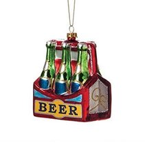 Demdaco Six Pack Beer Glass Ornament