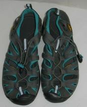 Womens 7 Keen Gray Aqua Teal Sport Waterproof Sandals Hiking Shoes - £21.77 GBP