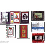 8 handcrafted HOLIDAY CARDS with envelopes-SANTA,SNOWMEN,ornaments,GIFTS... - $24.99
