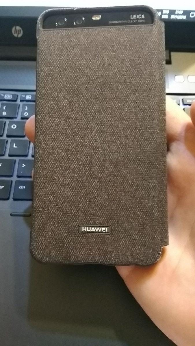 P10 Case Original Official Smart View Window Canvas Leather Flip Plus Business