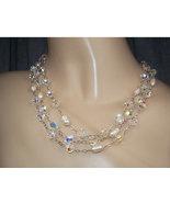 Clear Swarovski Crystal Pearl 925 Silver Sautoir Necklace - $295.00
