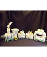 Green Train Diaper Cake Baby Shower Gift Center... - $48.00