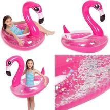 Joyin Inflatable Flamingo Pool Float With Glitters, Tubes For Floating, ... - $31.34