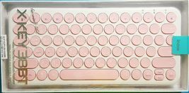 inote Korean English Bluetooth Slim Keyboard Wireless Compact Mini (Pink) image 5