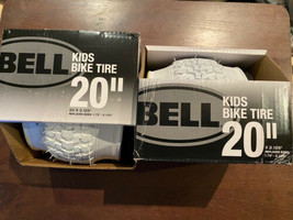 """2X Pair Bell Kids Bike Tire 20"""" x 2.125"""" Replaces: 1.75"""" - 2.125"""" White New - $39.59"""