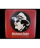 RICHARD PETTY  Winston Cup Record SEVEN Championship Square Metal Tin Box - $18.69