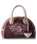 JUICY COUTURE Vintage Velour Bowler Purple Satchel Handbag Bag - $46.11