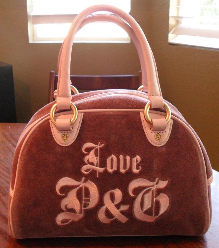 JUICY COUTURE Vintage Velour Bowler Purple Satchel Handbag Bag (MAKE AN OFFER)