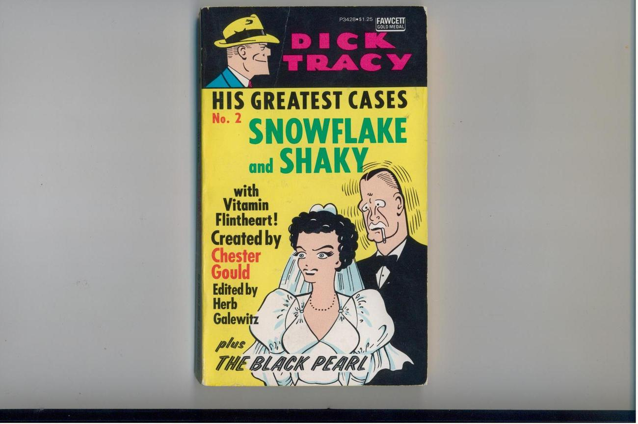 DICK TRACY meets SNOWFLAKE & SHAKY - 1975 1st - '40s comics reprints