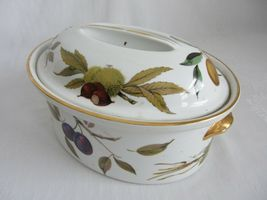 Royal Worcester Evesham Vale Covered Casserole + Rectangular Serving Dish Bowl image 11