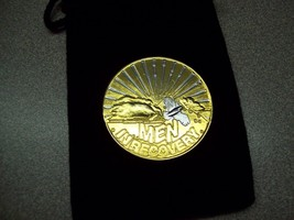 MEN IN RECOVERY GOLD AND SILVER BI PLATE MEDALLION AA NA W BLACK VELVET ... - $12.99