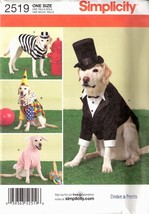 Simplicity 2519 One Size Large Size Dog Costumes  - $9.95