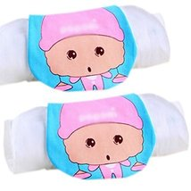 Lovely Pink Libra Cotton Gauze Towel Wipe Sweat Absorbent Cloth Mat Towel 2 Pcs