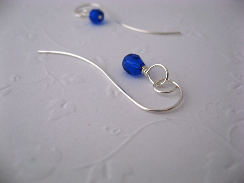 Flourish Sapphire Crystal Earrings Handmade by Chula