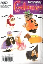 Simplicity 3952 Size A  2 Sizes Sm Med Dog Costumes Pattern - $7.95